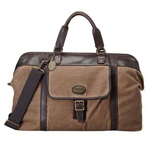 Fossil Estate Waxed Canvas weekender